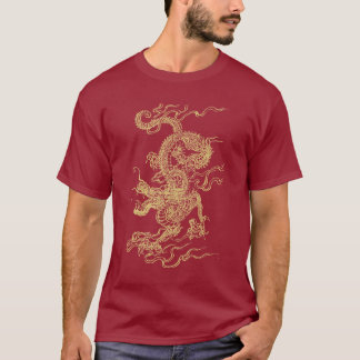 Red and Gold Chinese Dragon Unisex T-Shirt