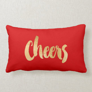 Red and Gold Christmas Pillow Cheers