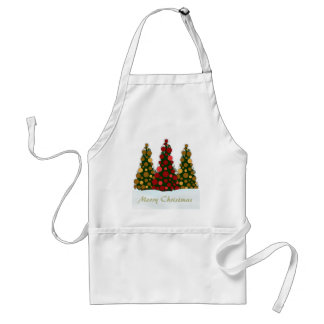 Red and Gold Christmas Tree Apron