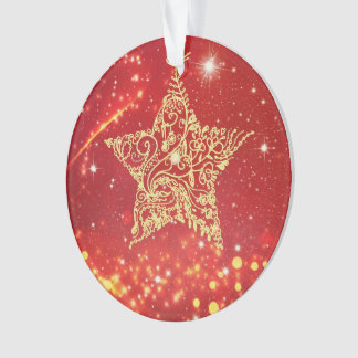 Red and gold Christmas tree decoration