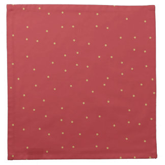 Red and Gold Cloth Napkin