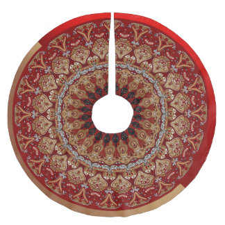 Red and Gold Elegance Tree Skirt