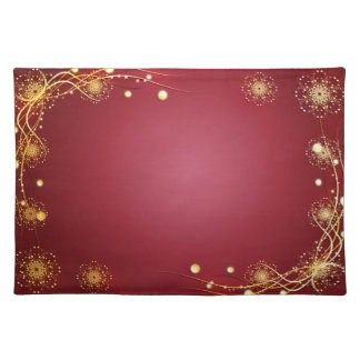 Red and Gold Explosion Placemat