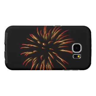 Red and Gold Firework Flower Samsung Galaxy S6 Cases