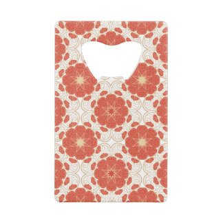 Red And Gold Floral Lace Pattern