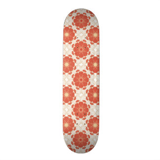 Red And Gold Floral Lace Pattern 20 Cm Skateboard Deck