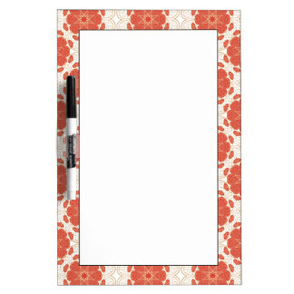 Red And Gold Floral Lace Pattern Dry Erase Board