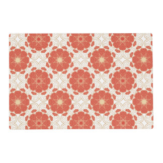 Red And Gold Floral Lace Pattern Placemat