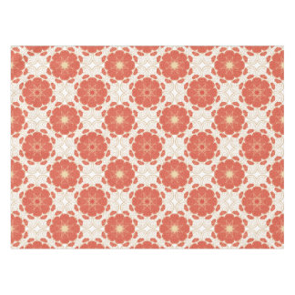 Red And Gold Floral Lace Pattern Tablecloth