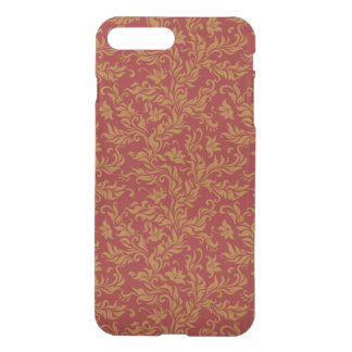 Red and Gold Floral Pattern iPhone 8 Plus/7 Plus Case