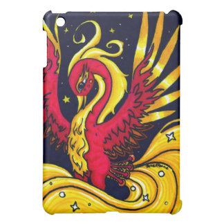 Red and Gold flying phoenix Cover For The iPad Mini