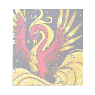 Red and Gold flying phoenix Notepad