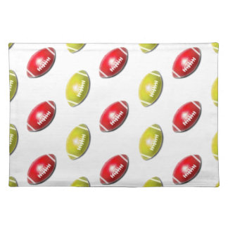 Red and Gold Football Pattern Placemats