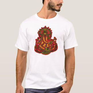 Red and Gold Ganesh T-Shirt