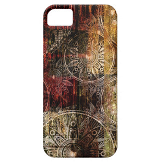 Red and Gold Grunge Swirl Design iPhone 5/5S Cover