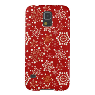 Red and Gold Holiday Pattern Galaxy S5 Case