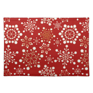 Red and Gold Holiday Pattern Place Mat