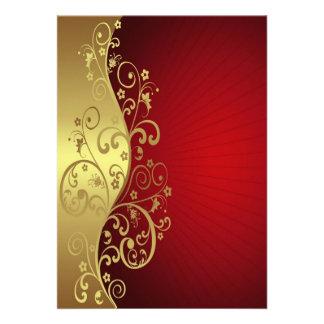 Red and Gold Multipurpose Invite