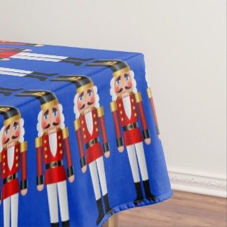 Red and Gold Nutcrackers Tablecloth