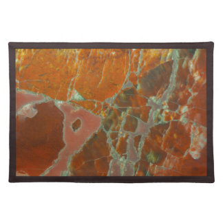 Red and Gold Petrified Wood Cloth Placemat