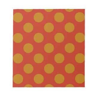 Red and Gold Polkadots Notepad