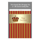 Red and Gold Prince Baby Shower Candy Bar Wrapper Personalised Flyer
