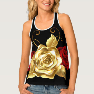 Red and Gold racerback tank