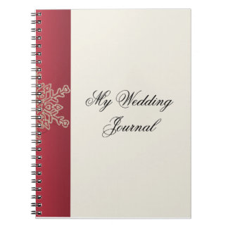 Red and Gold Snowflake Wedding Journal Note Books