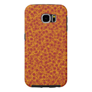 Red and Gold Star Team Spirit Sports Colors Samsung Galaxy S6 Cases
