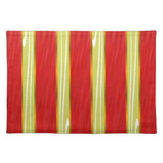 Red and Gold Striped Placemats