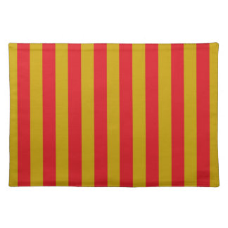 Red and Gold Stripes Placemat