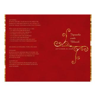 Red and Gold Tassel Hindu Wedding Program 21.5 Cm X 28 Cm Flyer