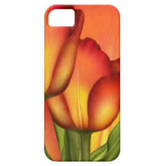 Red and Gold Tulips Barely There iPhone 5 Case