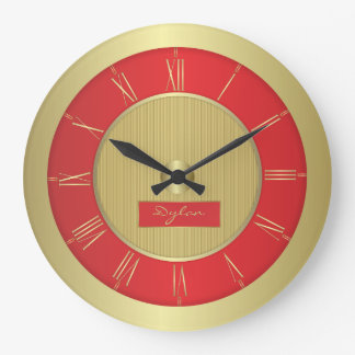 Red and gold wallclocks