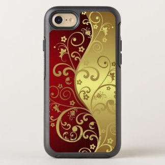 Red and gold with vines on iPhone 7 otterbox case