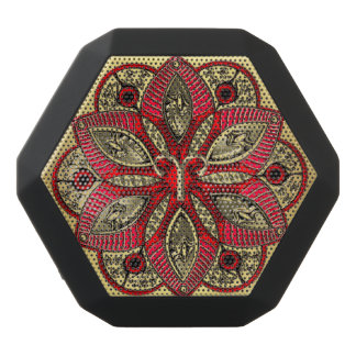 Red and Gold Zodiac Sign Aries Black Bluetooth Speaker