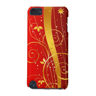 Red and golden Christmas iPod Touch (5th Generation) Cover