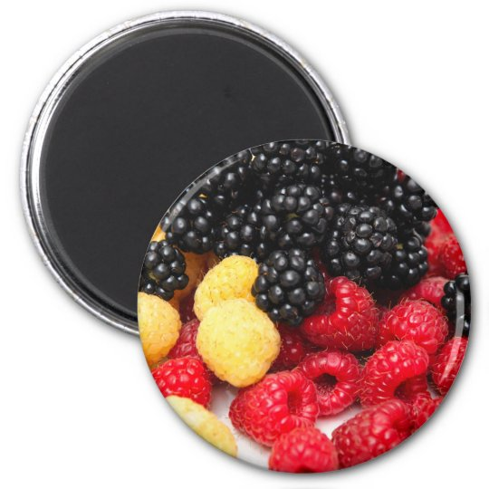Red And Golden Raspberries Magnet