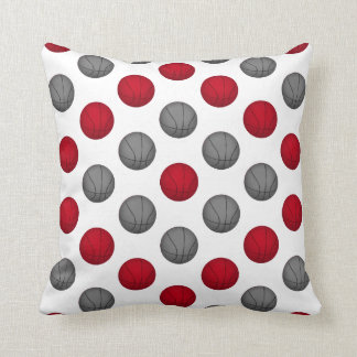 Red and Gray Basketball Pattern Cushion