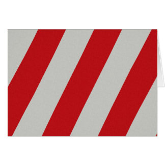 Red and Gray Candy Cane Diagonal Stripes Pattern Note Card