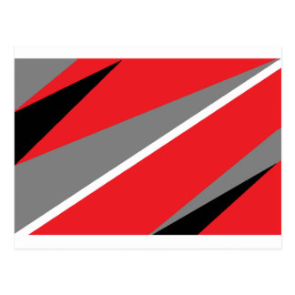 Red and gray post card