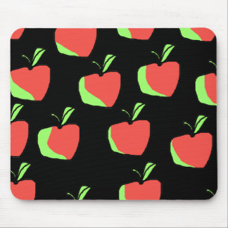 Red and Green Apple Pattern. Mouse Pad