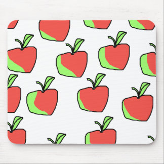 Red and Green Apple Pattern. Mousepads