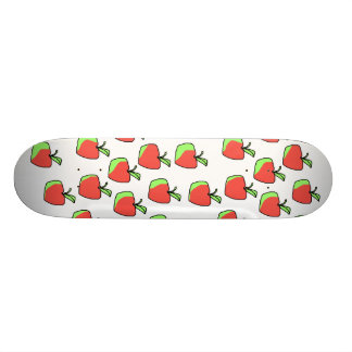 Red and Green Apple Pattern. Custom Skateboard