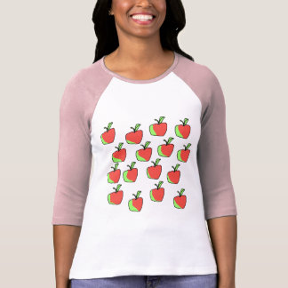 Red and Green Apple Pattern. T-Shirt