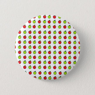 Red and Green Apples 6 Cm Round Badge