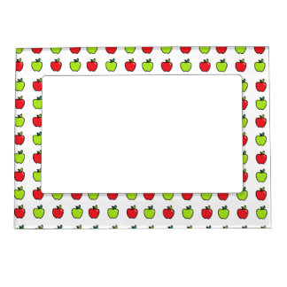 Red and Green Apples Magnetic Picture Frame