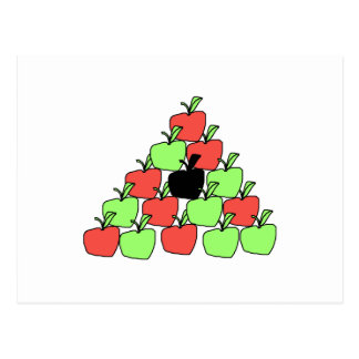 Red and Green Apples. Pool Balls, Triangle. Postcard