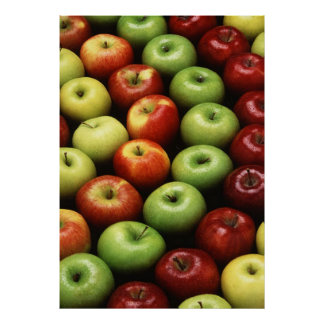 Red and Green Apples Posters