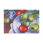 Red and Green Apples Stretched Canvas Print